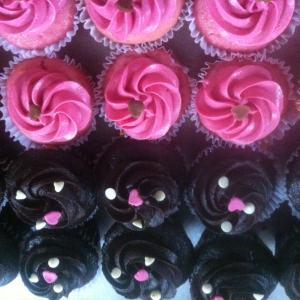 Cupcake Noggins- Buttercream icing cupcake chocolate