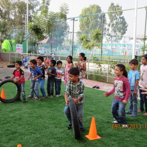 birthday party venues, PLaY Juniors, Off Sarjapur Road, tyre race
