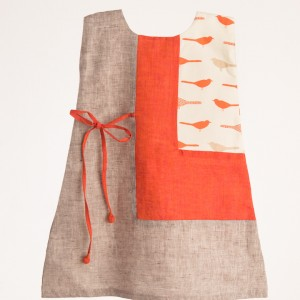 Orange Frock for Girls