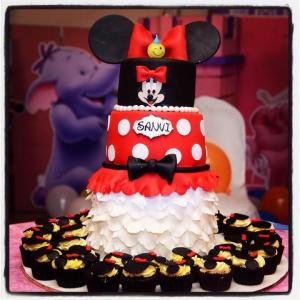 Ms K Cupcakes- Minnie Mouse theme birthday cake