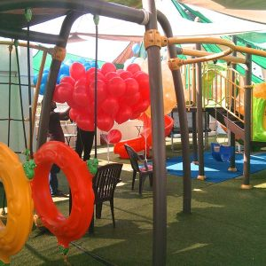 birthday party venues, PlayGym, Kalyan Nagar, balloon decoration