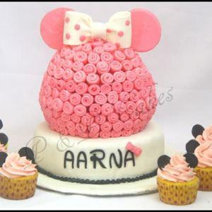 PnP Cakes- Minnie Mouse theme birthday cake