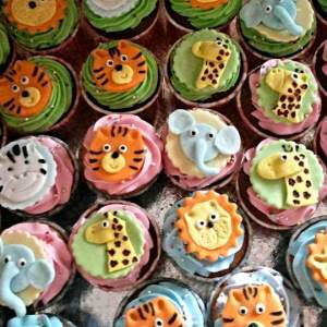 Cake Toppers- Designer Animal theme cupcakes
