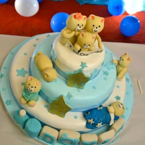 Cake Toppers Shoppe- Teddy themed Birthday Cake
