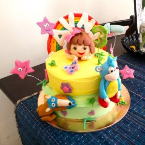 Cake Toppers Shoppe- Dora Princess Birthday Cake