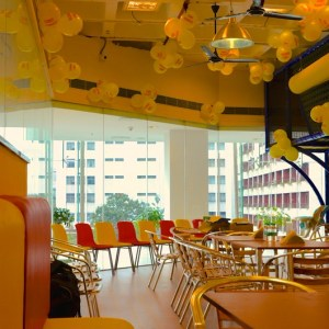 birthday party venues, Funky Monkey, M.G. Road, cafe decoration