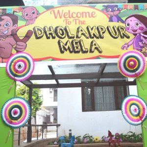 HourGlass, kids birthday party planners in bangalore, Dholakpur Mela Theme