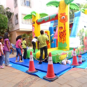 kids birthday party planners in bangalore, Jumporee Jungle theme