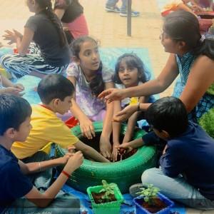 Gardening activities at Little Green Horns