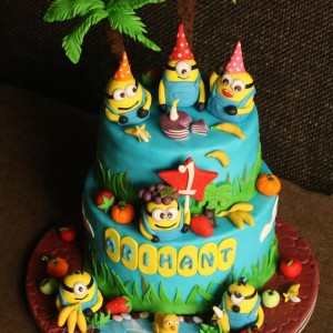 Baking Express- Minion Birthday Cake