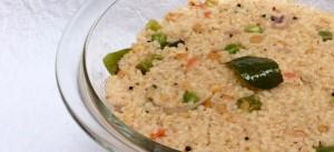 Lapsi vegetable upma recipe