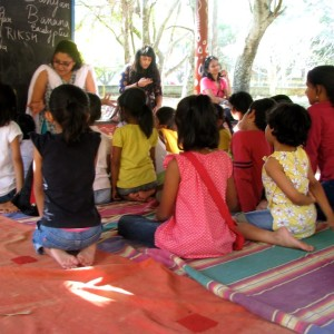 Storytelling session at My Little Chatter Box