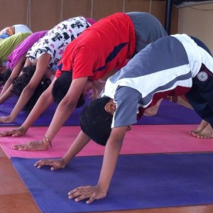 Yoga poses for kids - downward dog pose