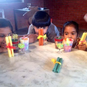 Atta Galatta Candle Making activity