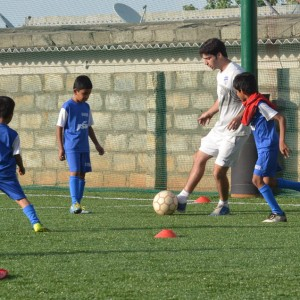 BFC Soccer Schools, Bangalore, Coach and Students