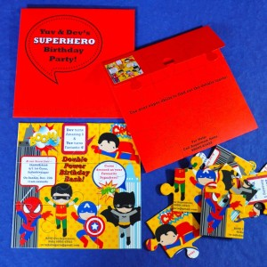 Templetree Super Hero Themed Invite as Puzzle