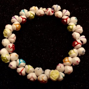 friendship day colourful rose beads