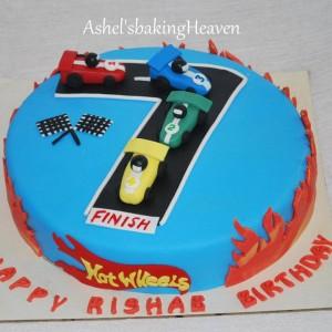 Ashels Baking Heaven Hotwheel Cars Cake