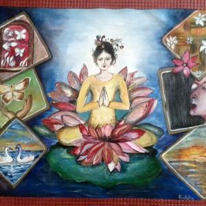 Chhavi Art Classes Painting Goddess