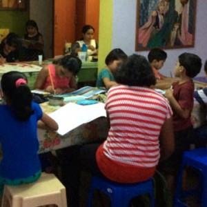 Colour Crafts Art Class Session