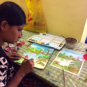 Colour Crafts Art Class Water Color Painting