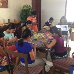 CraftyNutz Craft Class in Progress