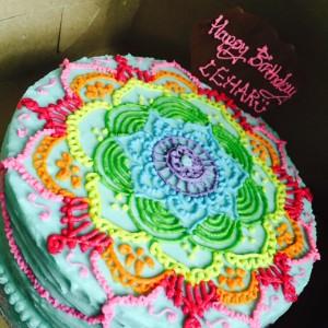 Great Escake Mehendi Design Cake