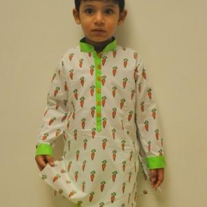 Little Stars Ethnic Kurtas with Carrot design