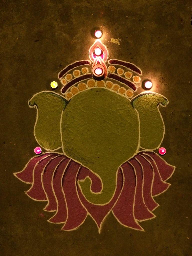 5 easy rangoli designs for Ganesh Chaturthi - BuzzingBubs