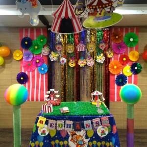 Party Makers Circus Theme Backdrop Decor