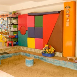 Sand pit for kids at Gaia Preschool & Daycare