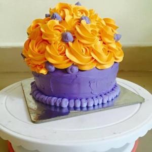 Baking Addiction Floral Cake
