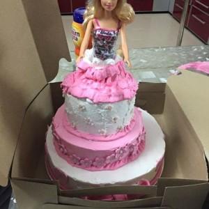 Baking Addiction Barbie Cake