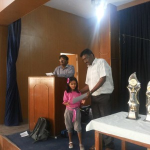 Bangalore Chess Academy Awarding Students