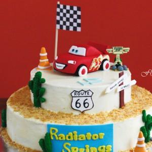 Floured Cars Themed Cake