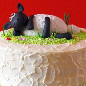 Floured Shaun The Sheep Themed Cake