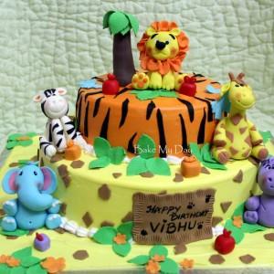 BakeMyDay-Jungle-Safari-Themed-Birthday-Cake