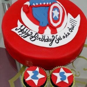 Cake My Heart-Captain America Cake