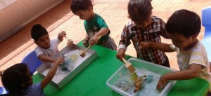 Role play and exploration, child-led learning