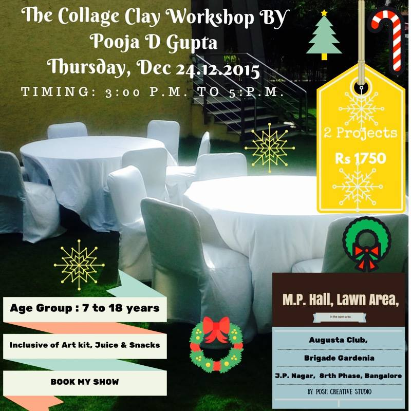 The Christmas Collage Clay Workshop Cover Image