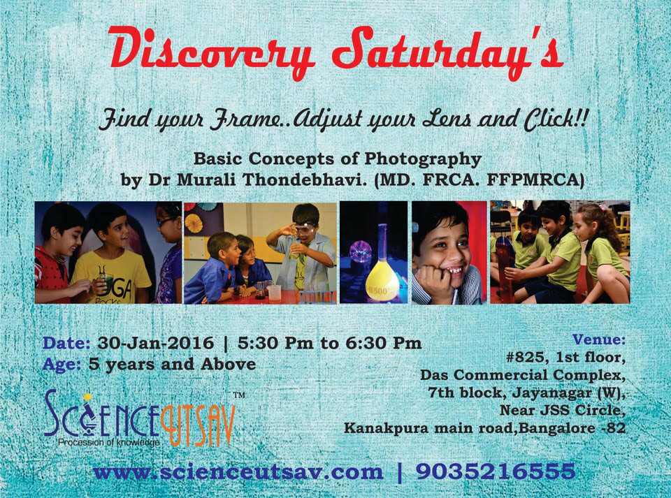 Discovery Saturday – Photography Workshop Cover Image