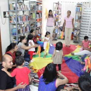 Easy Library Children enjoying Story Reading