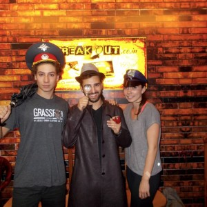 Breakout Escape room Americans playing game