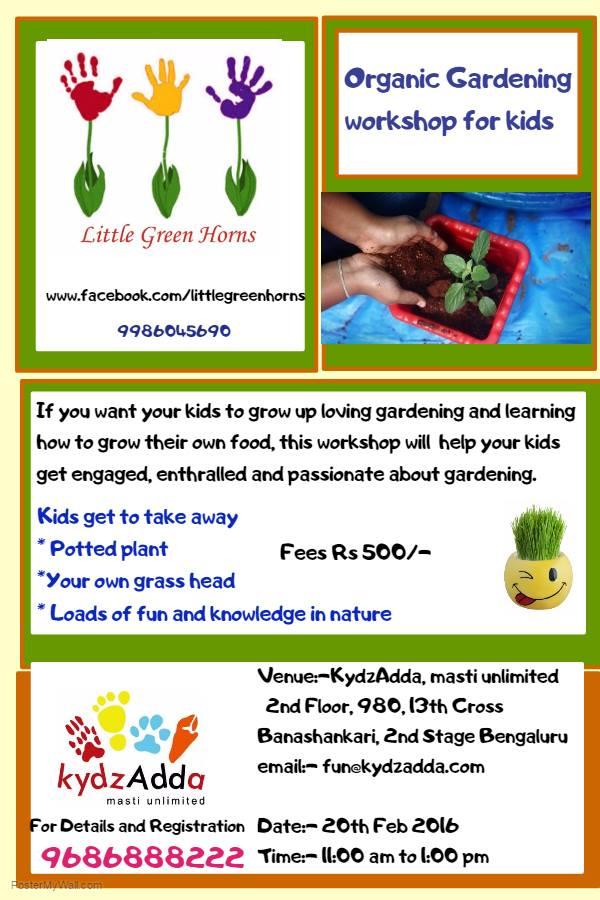 Organic Gardening Workshop Cover Image