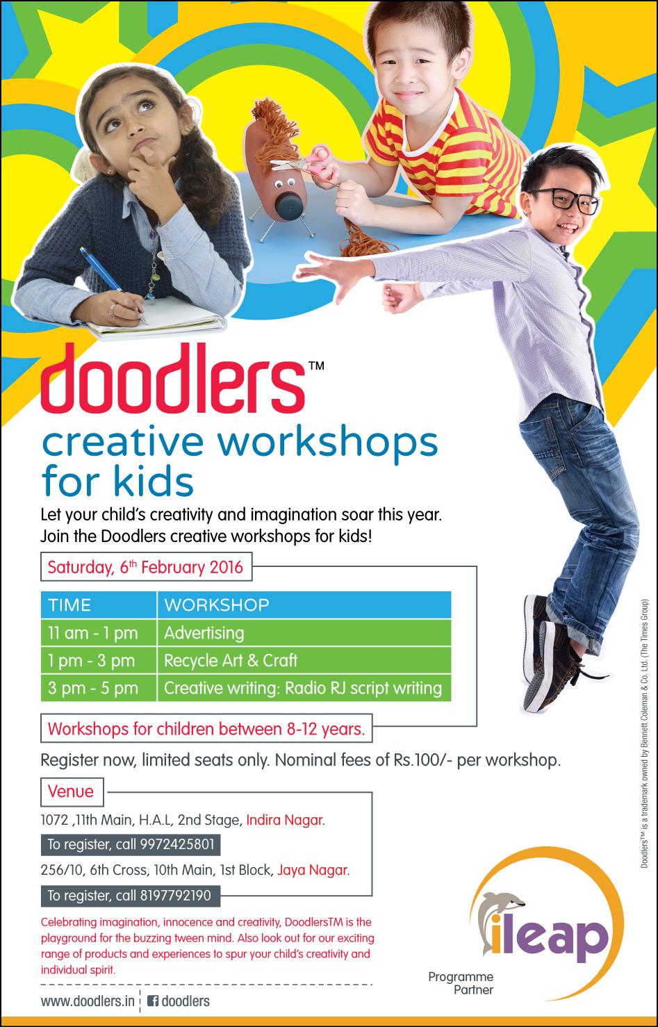 Doodlers Creative Workshops for Kids Cover Image