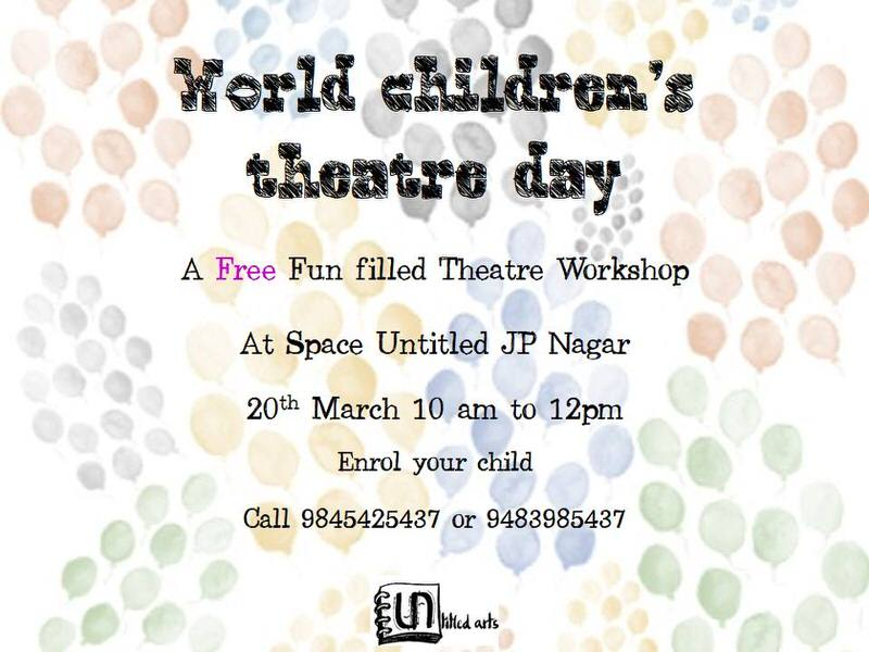 World Childrens Theatre Day Cover Image