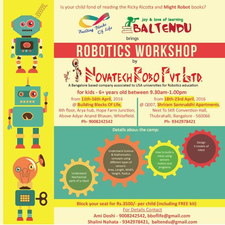 Robotics Workshop By Novatech Robo Bangalore