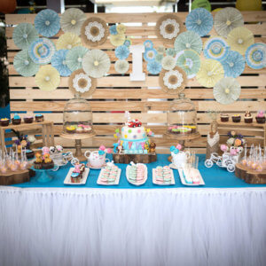 Cake Table Decor by Birthday Bugz