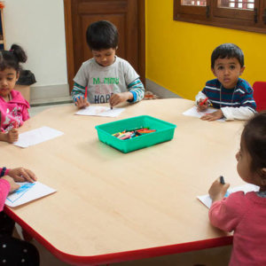 Kids Enjoying The activity at Little Lamps