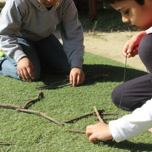 Kids Playing with Twigs